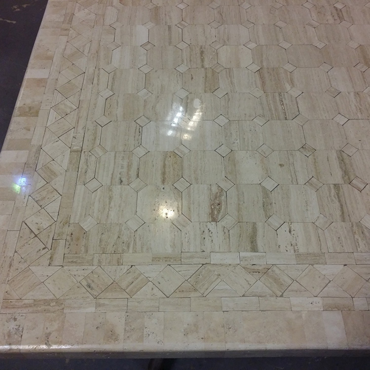 Table marbre beige 200X100